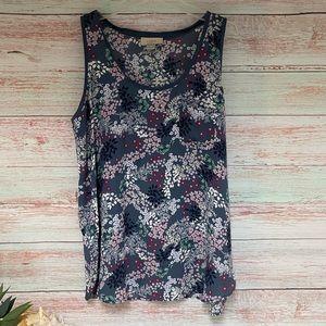 LOFT Floral Sleeveless Blouse / Medium